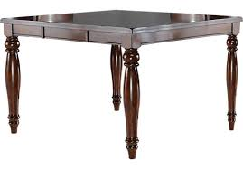 raisin rectangle counter height dining table traditional