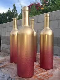 spray painting wine bottles 6138