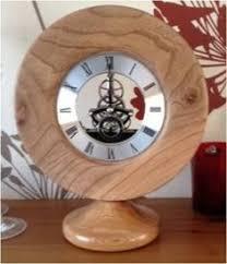 wood turned wall wood turned clock in zebrano wood turned desk clocks