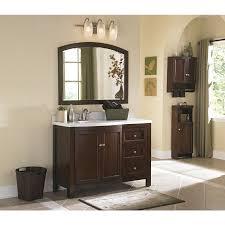 Bathroom Vanity Decor by Shop Allen Roth Moravia 48 In X 20 In Sable Undermount Single