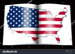 Flag Book Isolated Open Book Depicting Flag Usa Stock Illustration 74116018