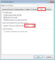 how do you refresh a pivot table how to stop pivot tables from returning deleted data