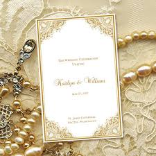 50th wedding anniversary program templates wedding program template vintage gold 8 5 x 11