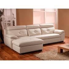 canape angle gauche cuir canapé d angle gauche en cuir blanc achat vente canapé