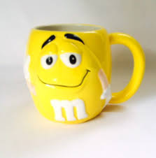Peacock Mug M U0026m Mug Mars 3d Face Yellow Ceramic 16 Oz Coffee Cup Pre Owned