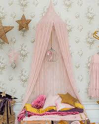 Lace Bed Canopy Numero 74 Floral Lace Bed Canopy Dusty Pink Unisex Bambini