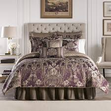 Plum Bed Set Everly Plum 4 Comforter Set By Croscill Hayneedle