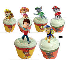 Paw Patrol Cupcake Toppers Stand up edible image toppers