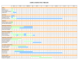Timeline Template Excel Sle Marketing Plan Timeline Template Work Marketing