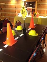 Construction Party Centerpieces by Construction Party Birthday Party Ideas Themed Parties