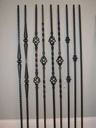 Metal Banister Rail How To Replace Wood Stair Spindles Or Balusters With Wrought Iron