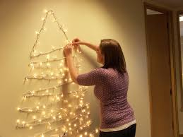 awesome tree on wall with lights pics decoration