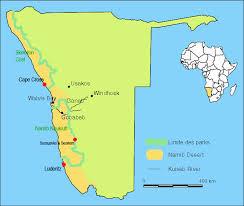 africa map kalahari desert namib desert sossuvlei park of namibia