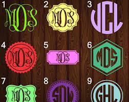 monogram stickers custom t shirts decals monograms yeti s by mavitydesignstudio