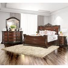 american freight bedroom sets bedroom furniture of america luxury brown cherry 4 piece baroque