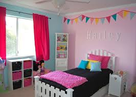 wall decorations for girls bedrooms with nice pink and blue wall