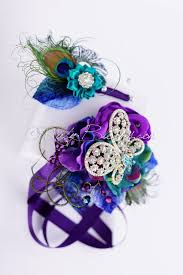 purple corsage purple teal corsage lapel pin