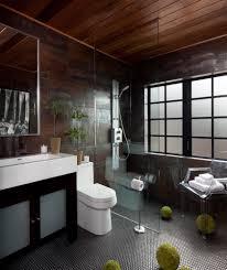 bathroom black tile bathroom with red accent in bathroom ideas