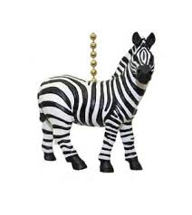 safari plains zebra stripes ceiling fan light pull