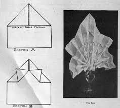 how to fold table napkins how to fold table napkins the fan pattern