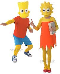 the simpson kids fancy dress cartoon character tv boys girls