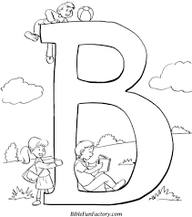 bible coloring sheet b is for bible bible lessons games and