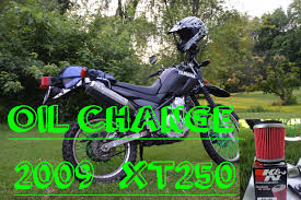 yamaha xt250 oil change youtube