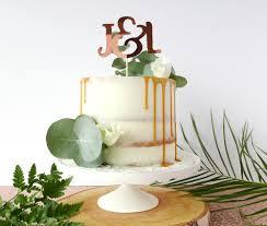 gold cake topper gold cake topper custom initials cake decoration copper