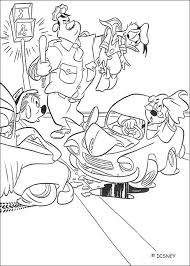 donald duck coloring pages donald duck u0027s car accident coloring