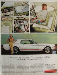 ford mustang ads 1965 ford mustang gt ad luxury interiors vintage ford ads