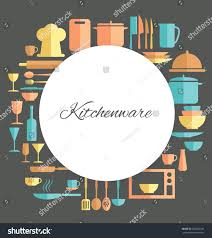 kitchen utensil design elements stock vector 220444186 shutterstock