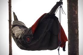 suspended sleeping bag hammock hiconsumption