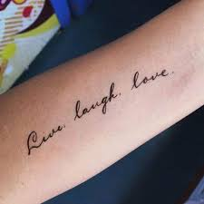 love live laugh live laugh love lazy duo calligraphy lettering temporary tattoo