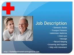 Home Health Aide Job Duties For Resume Home Health Aide Job Description Resume Sample Resume For Home