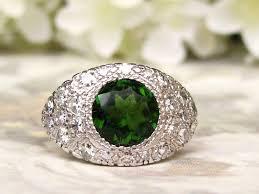 green engagement ring vintage engagement ring green tourmaline alternative engagement
