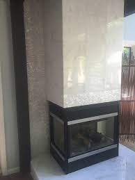 Mosaic Tile Fireplace Surround by Large Mother Of Pearl Tile Fireplace Surround Home Remodel