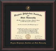 virginia tech diploma frame virginia tech diploma frame mahogany braid w vt seal black maroon