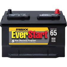 everstart maxx lead acid automotive battery group size 65n