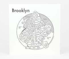 Portland Neighborhood Map Poster by Archie U0027s Press Circle Map Of Brooklyn At Buyolympia Com