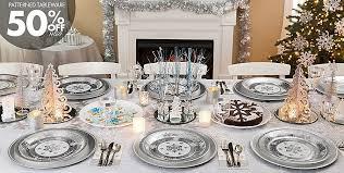 snowflake table top decorations silver winter wonderland theme party новый год pinterest table