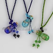 glass necklace pendants wholesale images Small wish bottle pendant necklace empty small glass vial necklace jpg