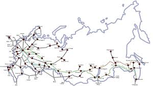 Germany Rail Map by Rail Transport In Russia Wikipedia