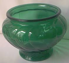 Swirl Glass Vase Vintage Napco Forest Green Swirl Glass Vase 1192 C1950s