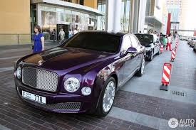 purple bentley mulsanne video purple bentley mulsanne at the mall of emirates in dubai