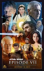 entire u0027star wars episode vii u0027 cast poster