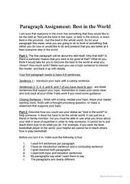 collection of solutions esl writing paragraphs worksheets on