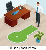 mini golf bureau mini golf clip vectoriel rechercher des dessins et des