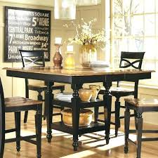 bar height dining room sets bar height dining dining room table astonishing dark brown oval