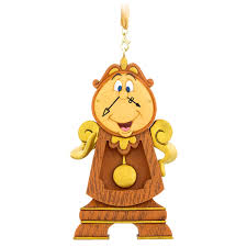 cogsworth figural ornament and the beast shopdisney
