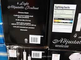 Costco Led Light Fixture Dsi 4 Light Adjustable Led Pendant